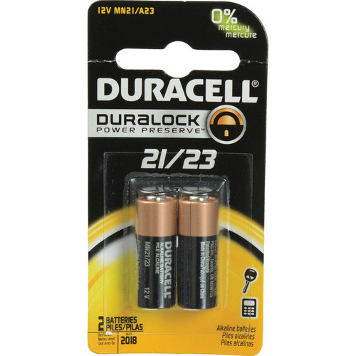 Duracell A21/A23 Alkaline Battery (12V, 2 Pack)