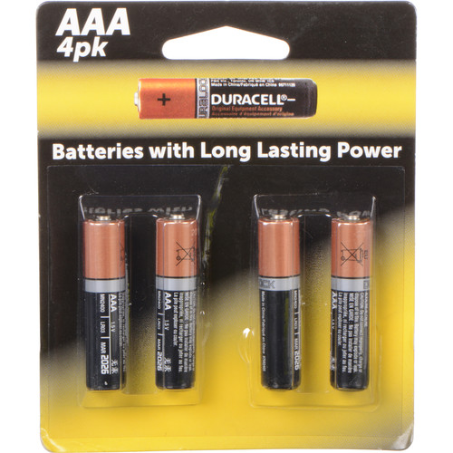 Duracell AAA 1.5V Alkaline Coppertop Batteries (4-Pack)