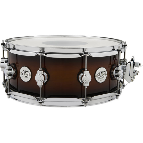 "DW DRUMS Design Series 5.5 x 14"" Snare Drum with Chrome Hardware (Tobacco Burst)"