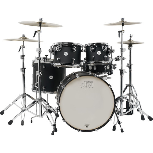 DW DRUMS DW Design 5-Piece Drum Kit (Black Satin)
