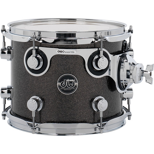 "DW DRUMS Performance Series 8 x 10"" Rack Tom (Pewter Sparkle)"
