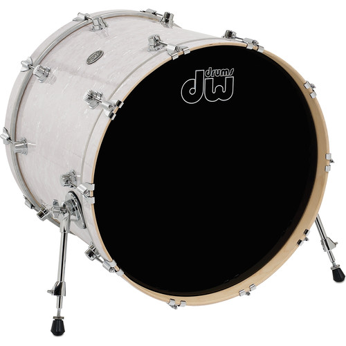"DW DRUMS Performance Series 18 x 22"" Kick Drum (White Marine)"