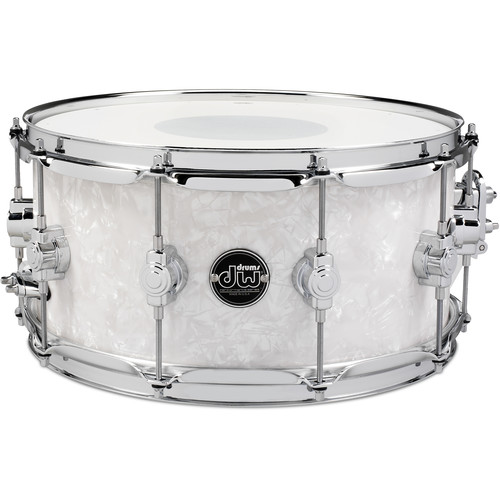 """DW DRUMS Performance Series 6.5 x 14"""" Snare Drum (White Marine FinishPly)"""