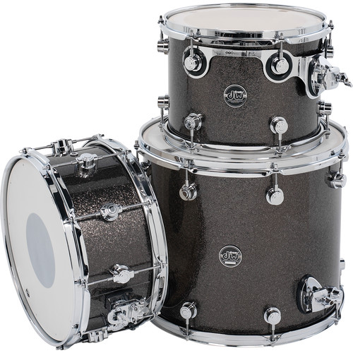 DW DRUMS Performance Series 3-Piece Tom/Snare Drum Pack (Pewter Sparkle)