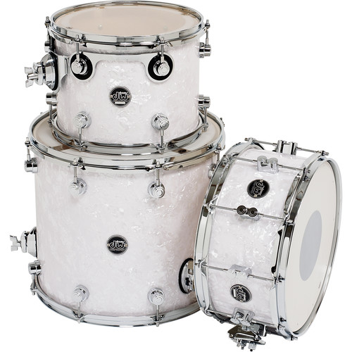 DW DRUMS Performance Series 3-Piece Tom/Snare Drum Pack (White Marine)