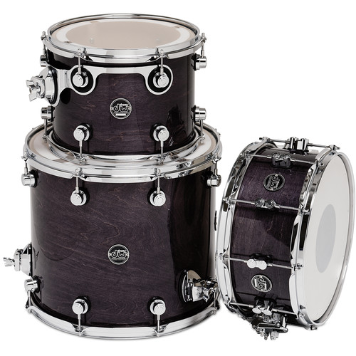 DW DRUMS Performance Series 3-Piece Tom/Snare Drum Pack (Ebony Stain)