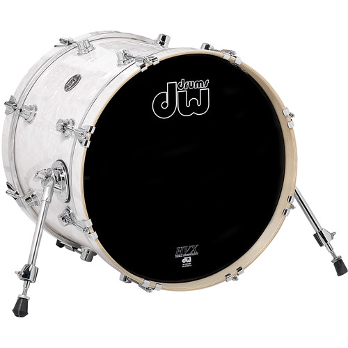 "DW DRUMS Performance Series Bass Drum (14 x 18"", White Marine Finishply)"