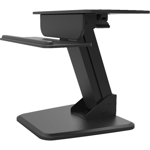 Dyconn Ergonomic Height-Adjustable Sit/Stand Desktop Station with Keyboard Platform