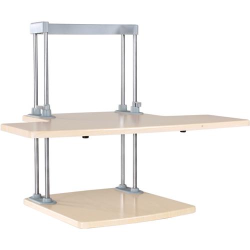 Dyconn Ergonomic Height-Adjustable Sit/Stand Desktop Station