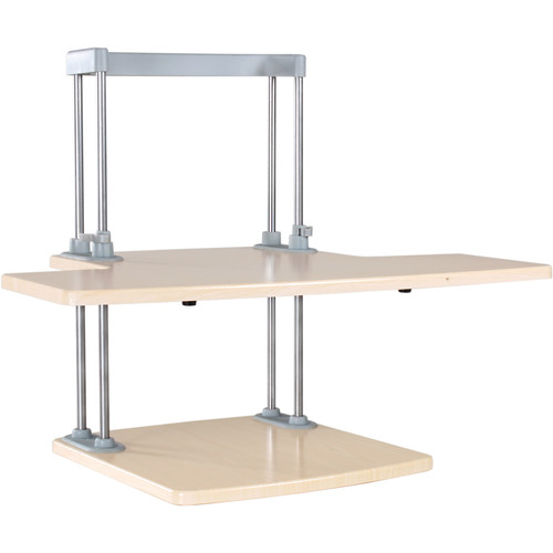 Dyconn Ergonomic Height-Adjustable Sit/Stand Desktop Station