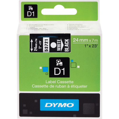 "Dymo Standard D1 Tape (White on Black, 1.0"" x 23')"