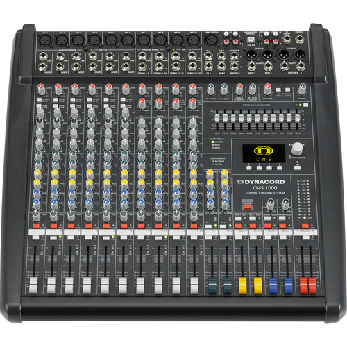 Dynacord 6 Mic/Line+4 Mic/Stereo Line Channels,6X Aux Sound Mixer Dual 24 Bit Stereo EFX, USB-Audio Interface