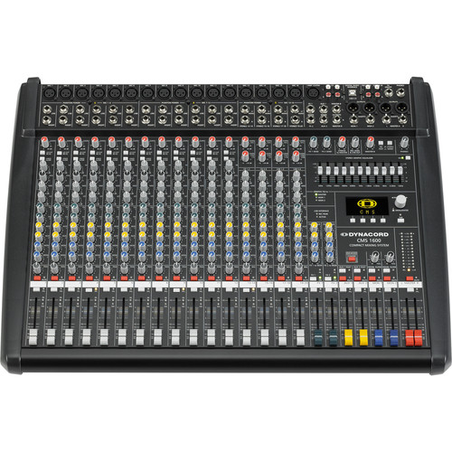 Dynacord 12 Mic/Line +4 Mic/Stereo Line Channels,6X Aux Sound Mixer Dual 24Bit Stereo EFX,USB-Audio Interface
