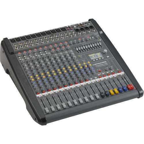 Dynacord Power Mixer,6 Mic/Line+4 Mic/Ster,Line Chs,6Aux,2-24Bit Ster.EFX,USB Audio Interface,2x1000W Amp/Lid