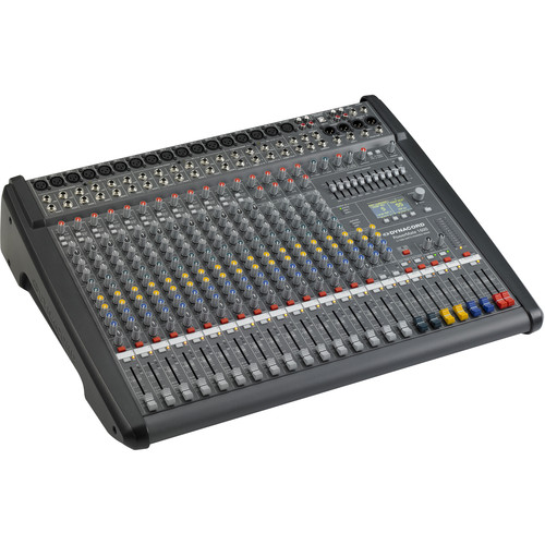 Dynacord Power Mixer,12 Mic/Line+4Mic/Ster,Line Chs,6Aux,2-24Bit Ster.EFX,USB Audio Interface,2x1000W Amp/Lid