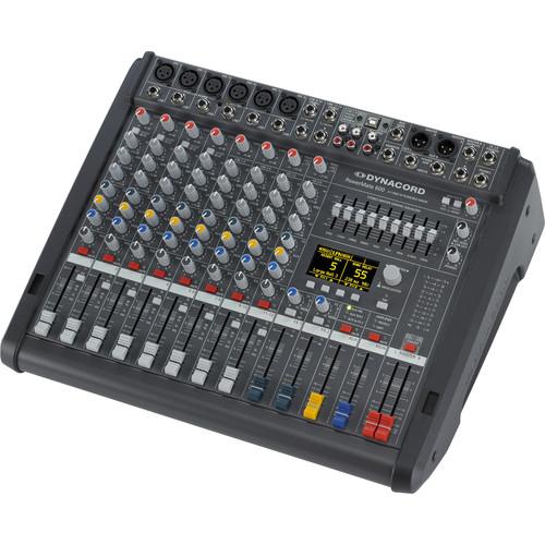 Dynacord Power Mixer,4 Mic/Line+4 Mic/Ster,Line Chs,3Aux,2-24Bit Ster.EFX,USB Audio Interface,2x1000W Amp/Lid