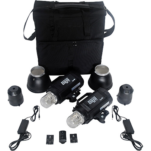 Dynalite Baja B4 Battery Powered 2-Monolight Kit with Case
