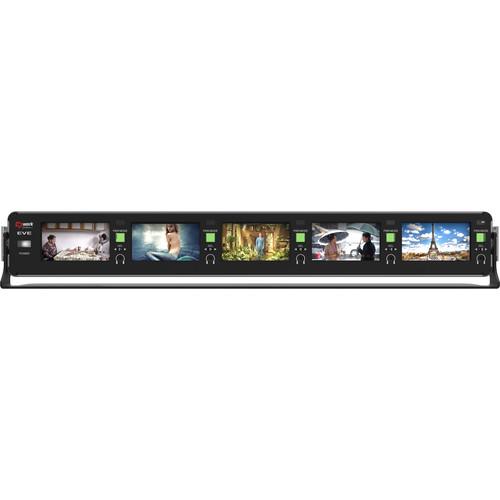 "e2work 3G/HD/SD-SDI 2.8"" Rack Type 5 Multi-Channel Monitor, 1.5Ru"