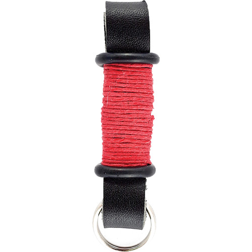 E3Supply Leather Motorcycle Keychain (Black / Red)