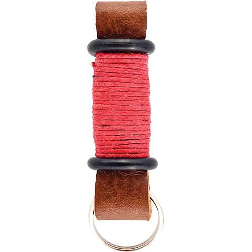 E3Supply Leather Motorcycle Keychain (Brown / Red)