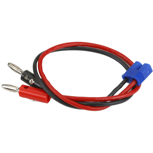 "E-flite EC3 Device Charge Lead with 12"" Wire and Jacks (16 AWG)"