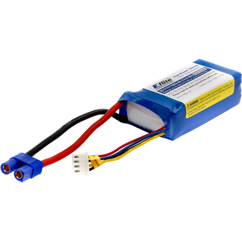 E-flite 1300mAh 3S 11.1V LiPo Battery with EC3 Connector