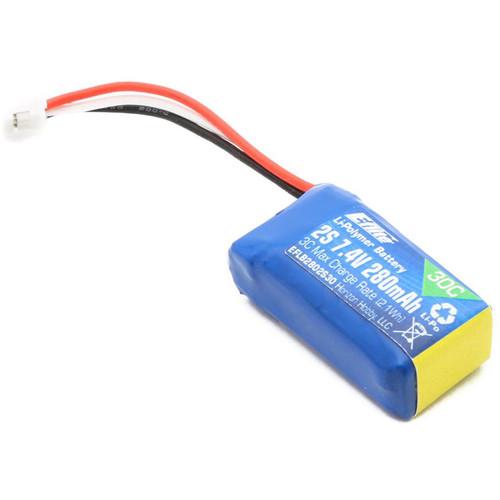 E-flite 280mAh 2S 7.4V LiPo Battery for Champ S+ BNF/RTF Drones