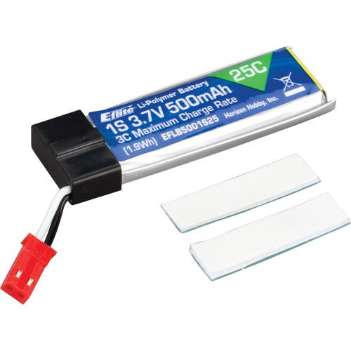 E-flite 500 mAh 1S 3.7V 25C LiPo Battery