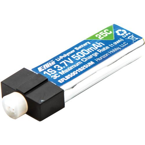 E-flite 500mAh 1S 3.7V 25C LiPo Battery with UMX Connector