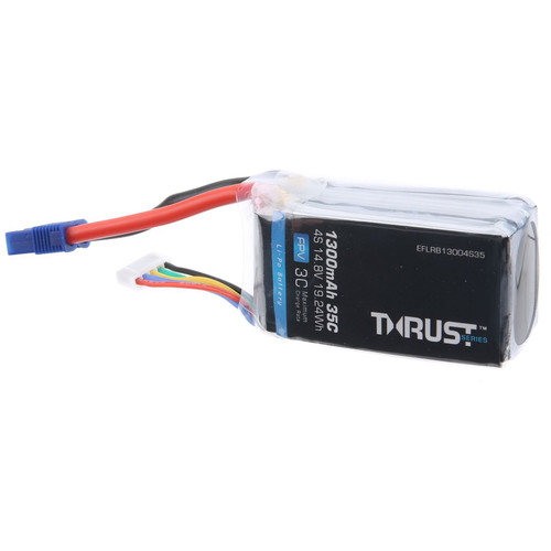 E-flite 4S 14.8V 35C LiPo Battery Thrust for FPV Racing Quads (1300mAh)