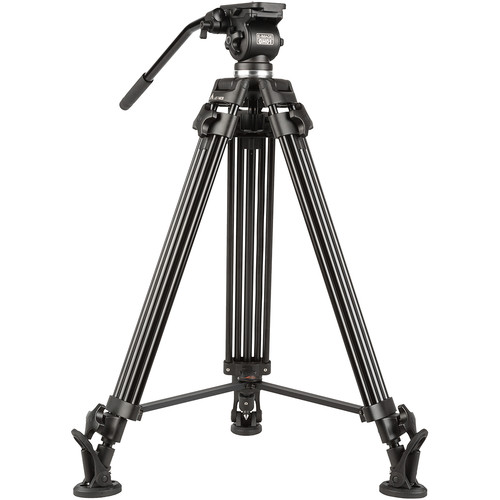 E-Image EG01A2 Two-Stage Aluminum Tripod System with GH01 Pan/Tilt Fluid Head