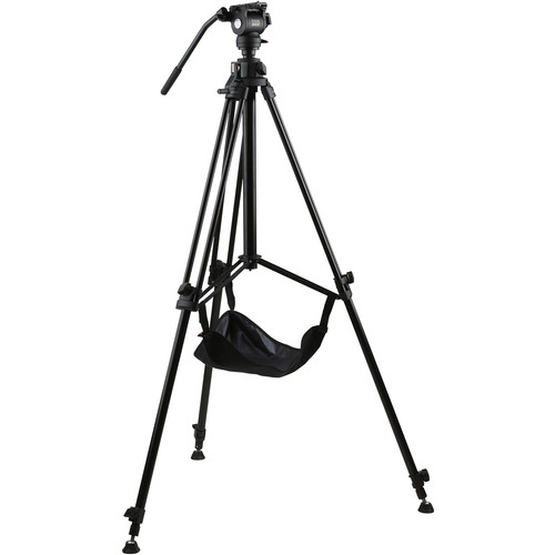 E-Image Studio Tripod with Geared Center Column and Fluid Head Kit