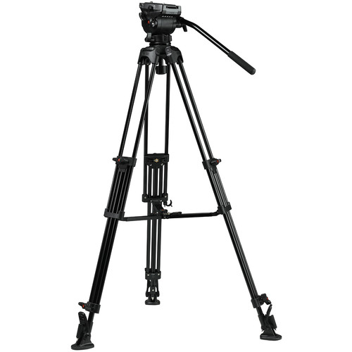 E-Image EG04AS 2-Stage Aluminum Tripod System with GH04 Dual-Base Fluid Head