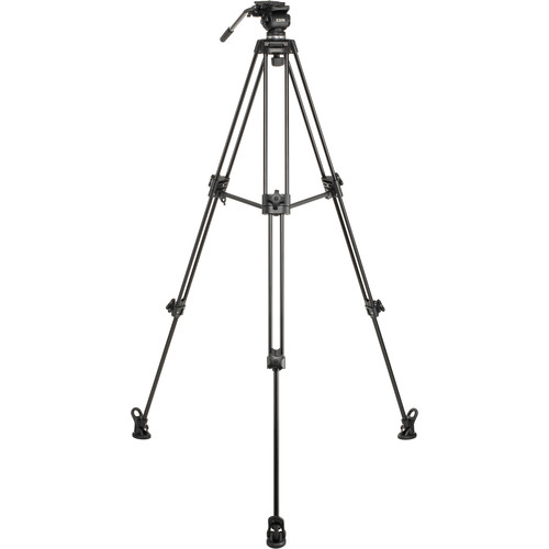 E-Image EK50AAM Fluid Drag Video Head and Tripod Kit with Dolly