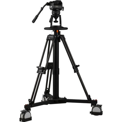 E-Image Pneumatic Pedestal Kit with Wheeled Dolly & 100mm Head (66 lb Payload)
