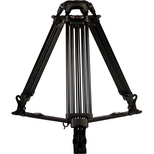 E-Image GA102 Two-Stage Aluminum Tripod with Ground Spreader (100mm Bowl)