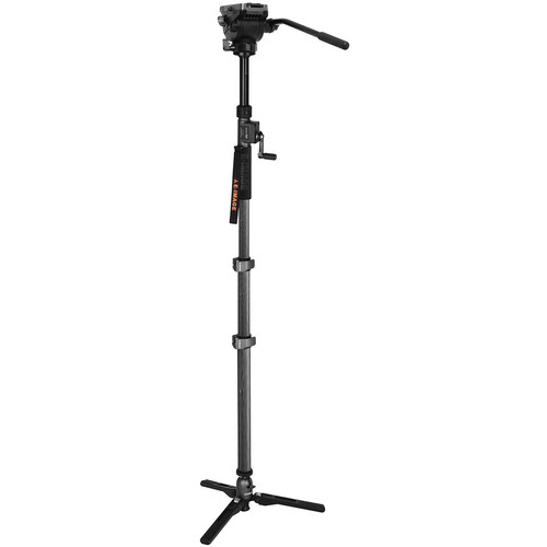 "E-Image Carbon Fiber Monopod With Fluid Head And Hand Crank (Max 81.9"")"