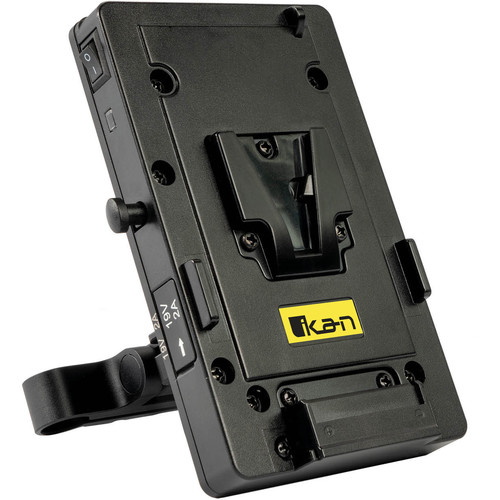 ikan V-Mount Battery Plate with 15mm Rod Clamp