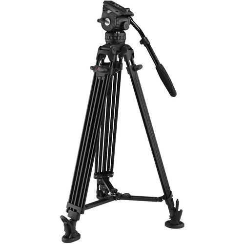E-Image Two-Stage Aluminum Tripod with GH06 Head & Tripod Dolly Kit (75mm)
