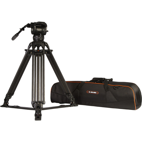 E-Image Two-Stage Carbon Fiber Tripod with GH15 Head & Tripod Dolly Kit (100mm)
