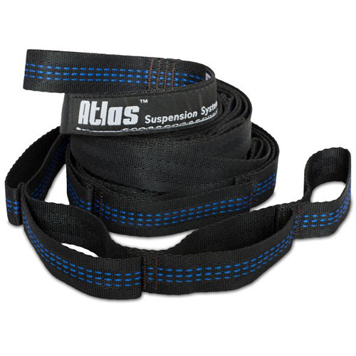 Eagles Nest Outfitters Atlas Strap Suspension System for Hammocks (2-Pack, Black/Blue)
