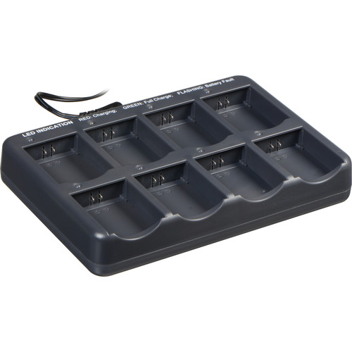 Eartec 8-Bay Multi-Port Charging Base with AU Plug Adapter