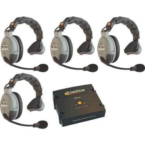 Eartec COMSTAR XT-4S 4-User Full Duplex Wireless Intercom System (Single-Ear Headsets)