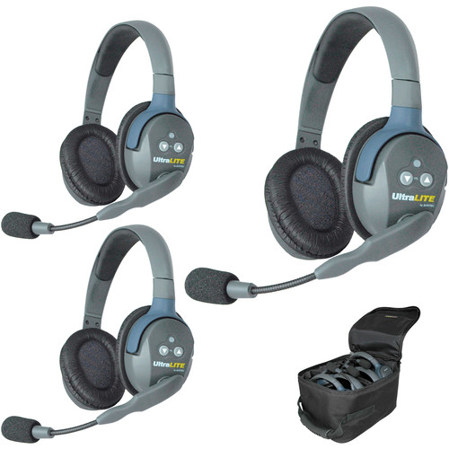 Eartec UL3D UltraLITE 3-Person Headset System (USA)