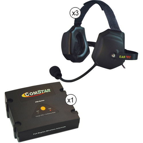 Eartec ComStar XT Full Duplex Wireless System with XTreme Wireless Headset (3 User)