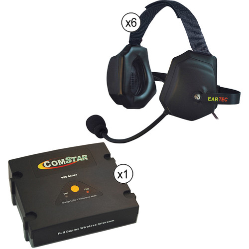 Eartec ComStar XT Full Duplex Wireless System with XTreme Wireless Headset (6 User)