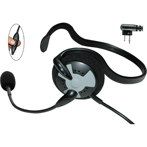 Eartec Fusion Lightweight Headset with Inline PTT & 2-Pin Motorola Connector