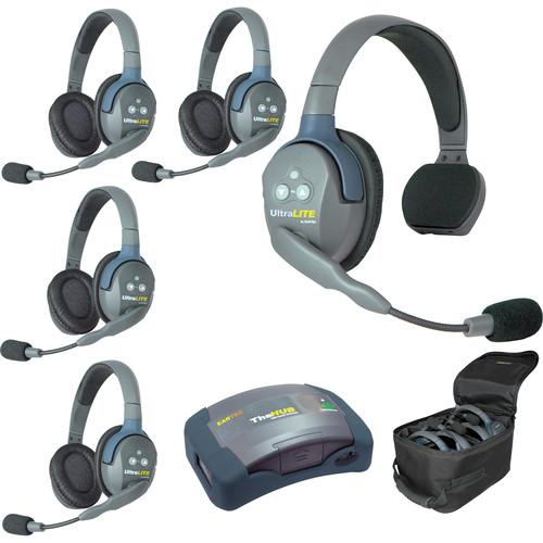 Eartec HUB514 UltraLITE 5-Person HUB Intercom System (USA)