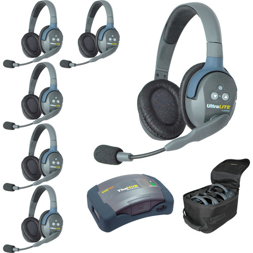Eartec HUB6D UltraLITE 6-Person HUB Intercom System (USA)