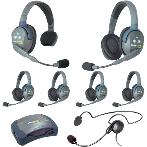 Eartec HUB715CYBAU UltraLITE 7-Person HUB Intercom System with Cyber Headset (AU)